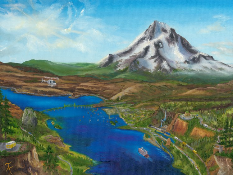 Taylor Allen Mt HoodTravel Painting 24 X 18 MF FINAL300res