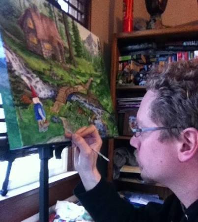 Taylor in his studio in Eugene, Oregon..
