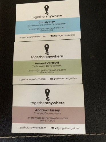 The back of our business cards...
